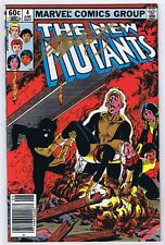 New Mutants #4 VF Signed w/COA Chris Claremont 1983 Marvel Newsstand Variant