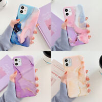 For iPhone 11 Pro Max XR XS 7 8 Plus X Marble Pattern Soft TPU Rubber Case Cover