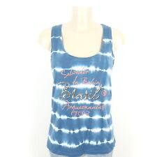 ARQUEONAUTAS Top Shirt Batik Ärmellos Blau Weiß Gr. L 40
