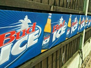 BUD ICE BANNER BUNTING PARTY BEER BAR PUB SIGN Budweiser