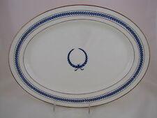 Warwick China Oval Platter Pattern C 9433 w Knights Helmet Logo, ca 1946