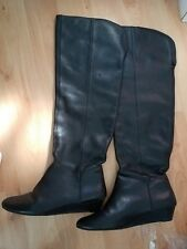 steven madden leather over knee boots 7.5