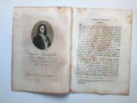 1818 Ortolani, Ritratto/Bio di Tommaso Campailla, Poeta e Scienzato, Modica