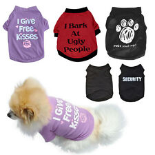 Fashion Summer Dog Clothing Pet Cat Dog Vest Printed Puppy Cotton Shirt Apparel