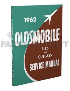 1962 Olds Cutlass and F85 Shop Manual Supplement Repair Service Book Jetfire