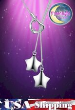 Shape Silver Pendant Necklace New Double Stars Heart