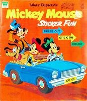 Vintage 1970 Whitman MICKEY MOUSE STICKER FUN Book Disney