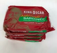 4 x King Oscar Wild Caught Sardines in Extra Virgin Olive Oil 3.75oz 09/2023