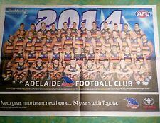 ADELAIDE CROWS FOOTBALL CLUB - AFL FULL SIZE ADVERTISER SOUVENIR LIFTOUT 2014