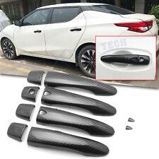Carbon Fiber Texture Door Handle Cover Trims Keyless For Nissan Maxima 2016-2020