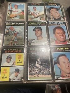1974 Topps Baseball Card Book See Pictures Some 1973 Over 260 Cards