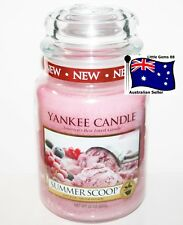 YANKEE CANDLE ** Summer Scoop ** 150 BURNING HOURS * LARGE GLASS JAR