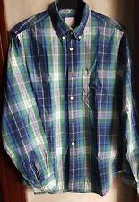 GAP MEN'S LONG SLEEVE COLLARED DRESS SHIRT, GREEN-Size Medium