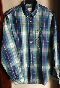 GAP MEN'S LONG SLEEVE COLLARED DRESS SHIRT, GREEN-Size Medium