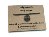 I Pinky Promise to Always Love You Message Wish Bracelet 8th Wedding Anniversary