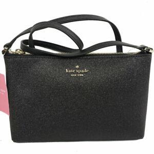 Kate Spade New York Purse Joeley Glitter Crossbody Bag Black