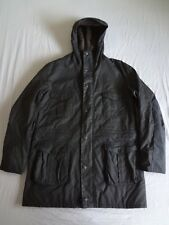 barbour oakum navy fleece lined wax jacket xxl