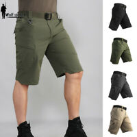 Mens Military Cargo Shorts Tactical Combat Quick Dry Summer Multi Pocket Casual