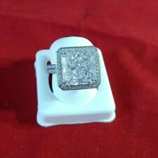Silver store sample 925 - (3950) Solitaire ring cz size 6.50 Sterling