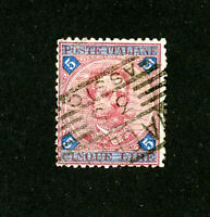 Italy Stamps # 72 VF Used Scott Value $230.00
