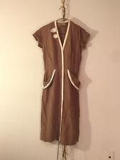cute linen day dress, kick pleat, 1950's, Harmay Inc's Tootal (sic) Linen, VG