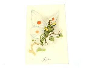 Aux Allies Vise Paris No.17 Japon Japan Geisha Butterfly Unused French Postcard