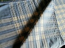 Vintage 1950's / 60's Quality Woven Cotton Table Cloth - Blue Checked