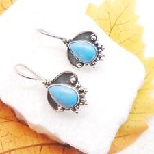 Mohave Türkis blau Tropfen Design Ohrhänger Ohrringe 925 Sterling Silber neu