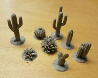 28mm modern Cactus Set 1,Scatter, Terrain, Scenery for Wargames,