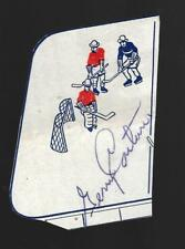 """Tough Gerry """"Doc"""" Couture 1940's Canadiens Red Wings Blackhawks Signed Autograph"""