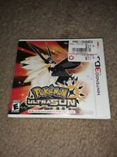 Pokémon Ultra Sun REPLACEMENT CASE NO GAME nintendo 3ds