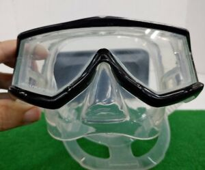 ScubaPro Mask CooIVu Black With Case VERY NICE-LOOKING!!