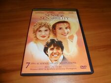 Sense and Sensibility (DVD, 1999, Widescreen) Emma Thompson, Kate Winslet Used