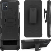 Cell Phone Case For Samsung Galaxy A51 With Belt Clip Holder Cover Anti-knock