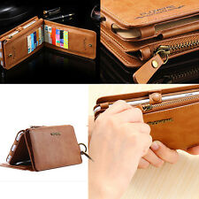 Leather Flip Card Wallet Removable Case 2 in 1 Handbag Cover For iPhone 7 6 Plus