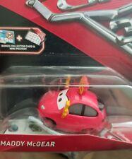 disney pixar cars 3 diecast Maddy Mcgear Bonus Collector Card & Mini Poster