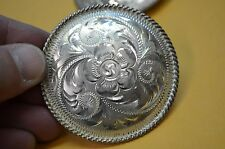 FLEMING STERLING SILVER Fine Hand Engraved Rosette Conchos for Headstalls Halter