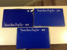 1968 1969 1970 Proof set run - 3 box lot  US MINT - (OGP) 15 Coins!!