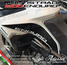 2 Adesivi DUCATI MULTISTRADA 1200 Enduro fianco serbatoio BLACK matt