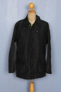 BARBOUR Bedale Waxed Jacket Navy Size 44 Large