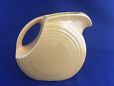 Vintage Fiestaware Yellow Disc Juice Pitcher 1940's Authentic Fiesta Pottery