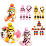 6Pcs/Set Pet Warm Hat Scarf Dog Cat Socks Stripe Knitted Puppy Costume Clothes