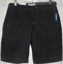 NWT Old Navy Womens Mid Rise Black Cotton Bermuda Summer Walking Shorts Size 4