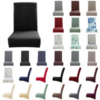 1/4/6pcs Dining Chair Seat Covers Wedding Party Home Protective Stretch Covers