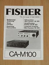 Bedienungsanleitung - CA-M100 - Fisher Vollverstärker - Mini-System M-100