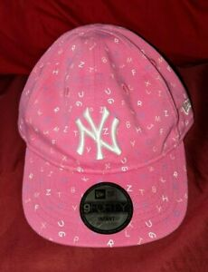 NY Yankees New Era 9Forty My First Infant Hat York Pink Girls Alphabet Letters