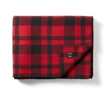 Filson Mackinaw Wool Blanket 80110 100% Virgin Wool  11080110 Red / Black