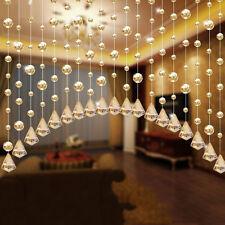 1 Luxury Glass Beads Door String Tassel Curtain Wedding Divider Panel Room Decor