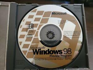 ULTRA RARE: Microsoft Windows 98 Beta Preview Program CD from Japan!