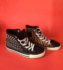 Converse All Star Studded Leather Animal Size 4 Leopard Tiger Limited Edition